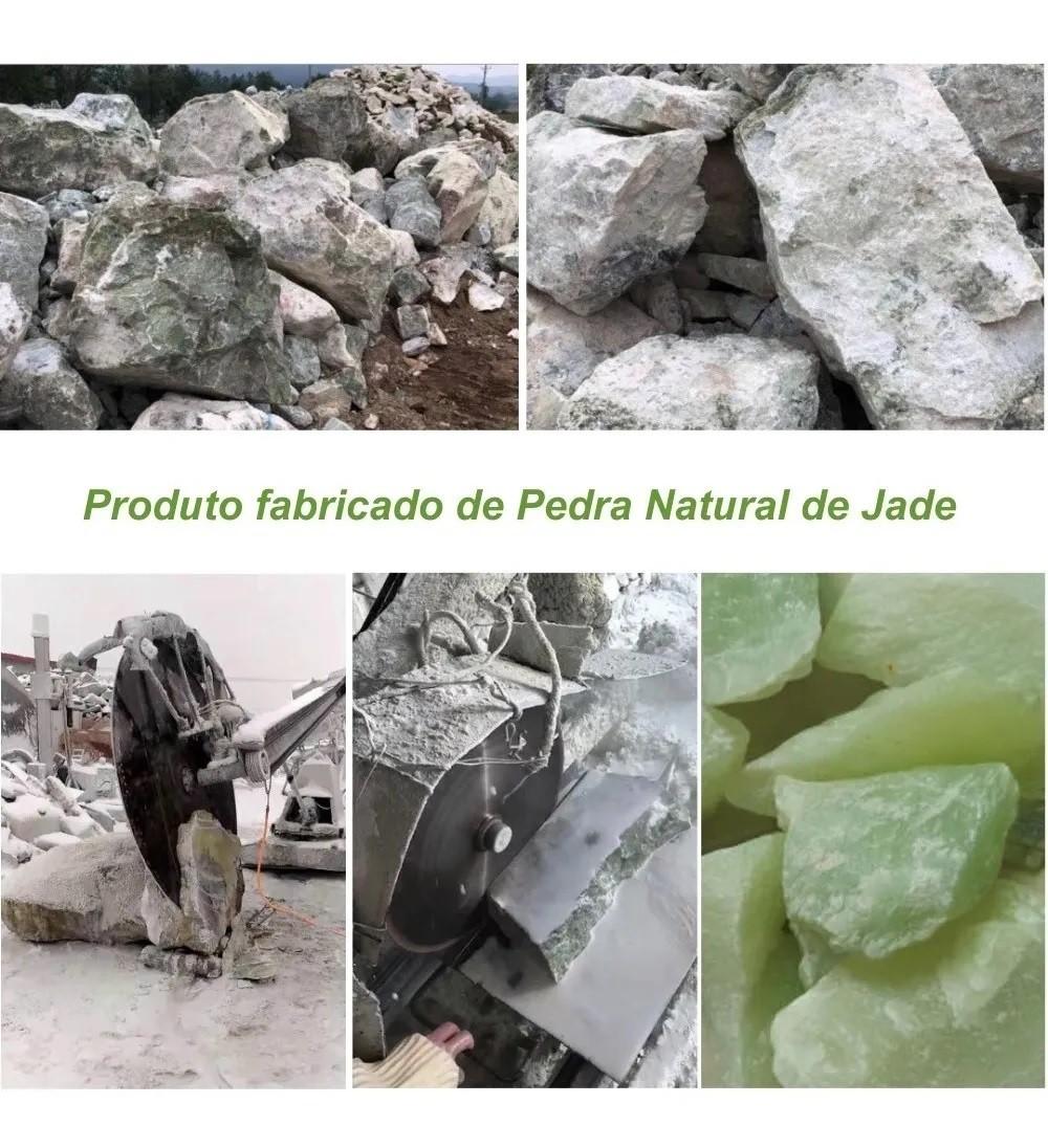Rolo Massageador Pedra De Jade Massagem Facial Anti Idade