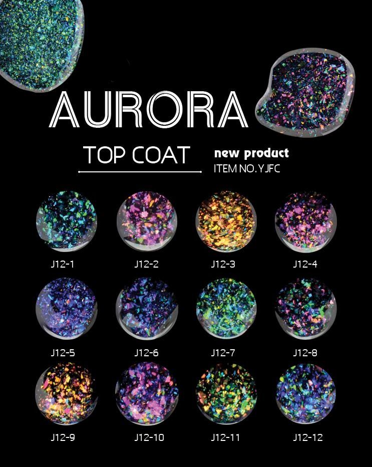 Top Coat Aurora J12-08 Honey Girl Com Glitter 5g