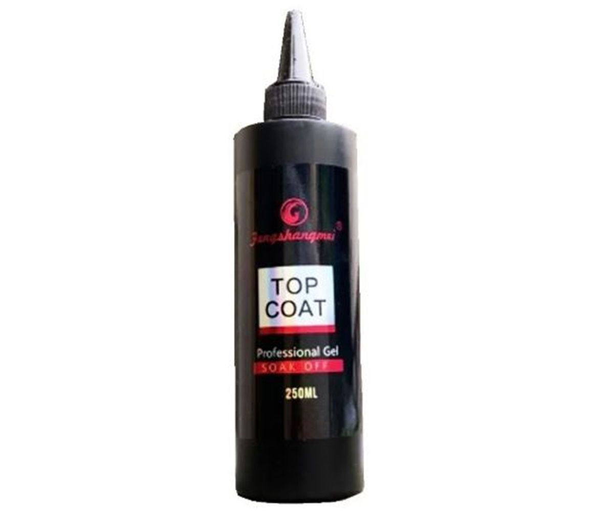 Top Coat Fengshangmei 250ml Gigante Pretinho Do Poder