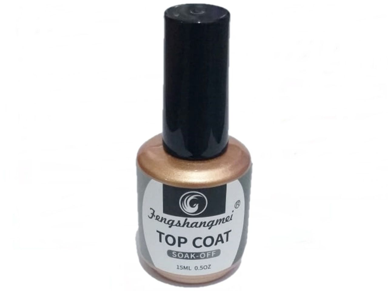 Top Coat Soak- Off Dourado Fengshangmei Unha Gel Acrigel 15ml