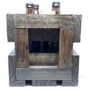 Caixa de Madeira Reforçada para 4 Cervejas