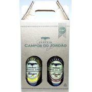 Cerveja Campos do Jordão Ginger (gengibre)  e Avelã na caixa de presente