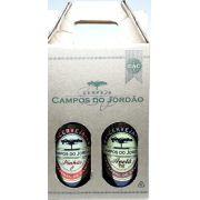 Cerveja Campos do Jordão Pinhão e Avelã na caixa de presente