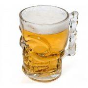 DUAS - Canecas de Vidro para Cerveja / Chopp - Caveira 510ml