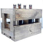 Na Caixa de madeira kit Degustação Cerveja Votus - c/ 4 Rotulos