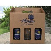 Kit Cerveja  Murano com 2 Witbier + Copo