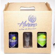Kit Cervejas Murano Session com IPA + Witbier + copo