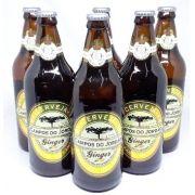 Na Caixa de Madeira 6 Cervejas Campos do Jordão Ginger - 600 ml