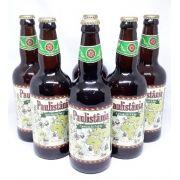 Na Caixa de Madeira com 6 Cervejas Paulistânia Caminho das Índias 500ml