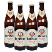 Pack com 4 Cervejas Erdinger Tradicional 500ml