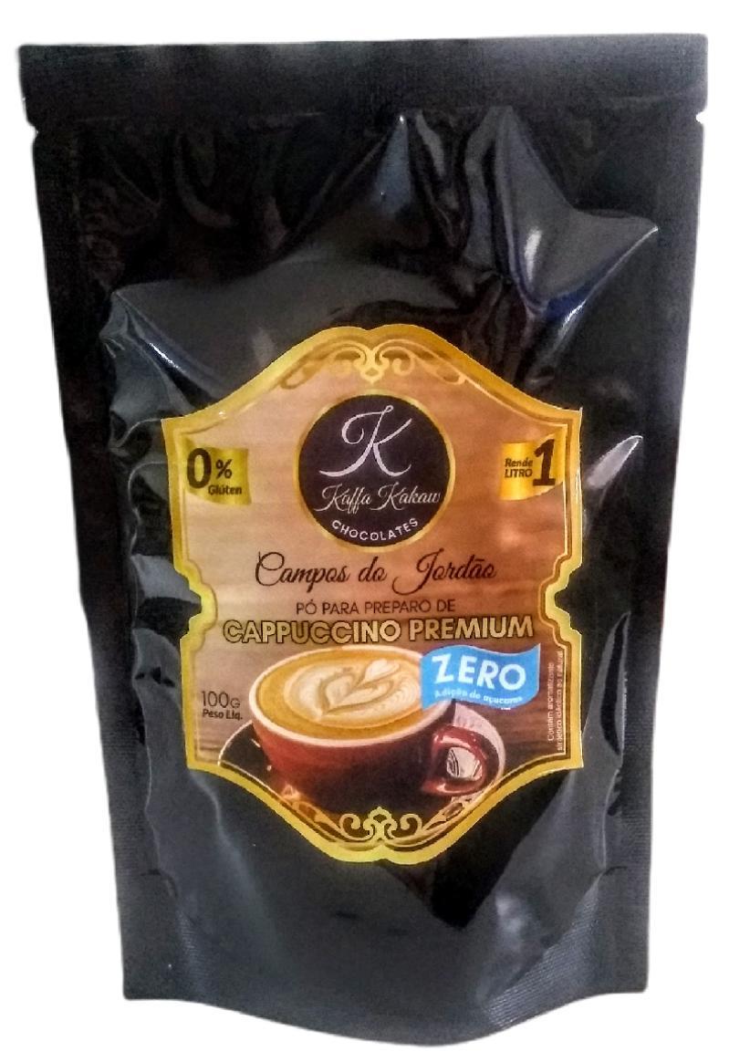 Cappuccino Premium Kaffa Kakaw Campos do Jordão Zero Açúcar de 100gr