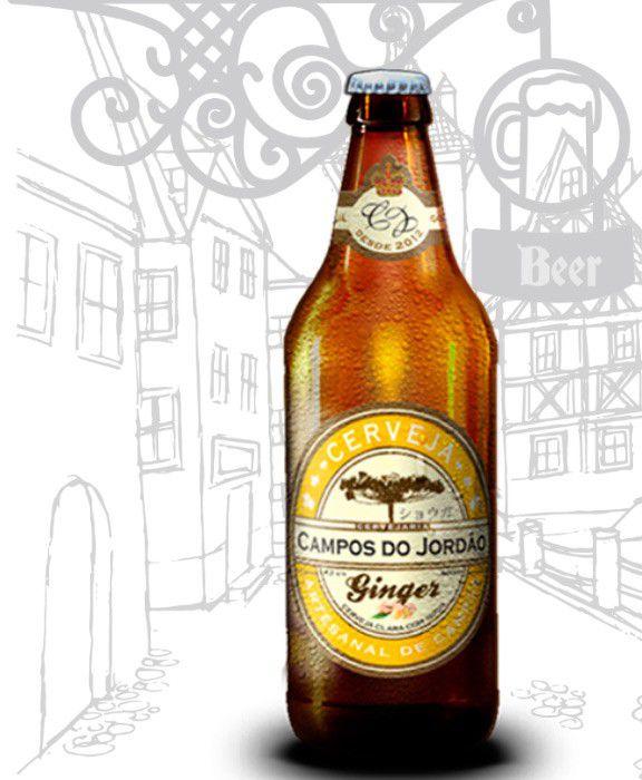 Cerveja Campos do Jordão Pinhão e Ginger na caixa de presente
