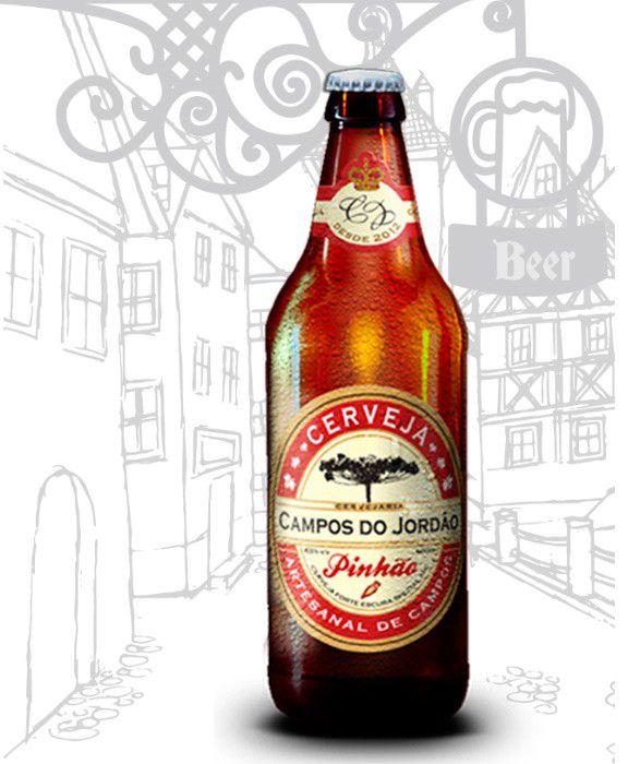 Cerveja Campos do Jordão Pinhão e Weizenbock na caixa de presente