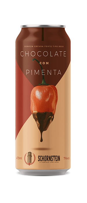 Cerveja Chocolate com Pimenta Schornstein Bock lata de 473ml