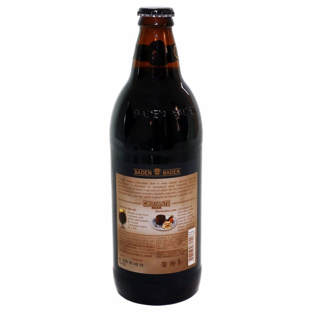 Cerveja Chocolate Baden Baden 600 ml
