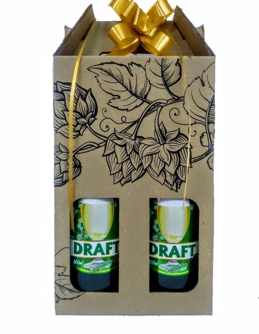 Cerveja Draft  600ml para presente 2 unid. Faça a tua escolha !