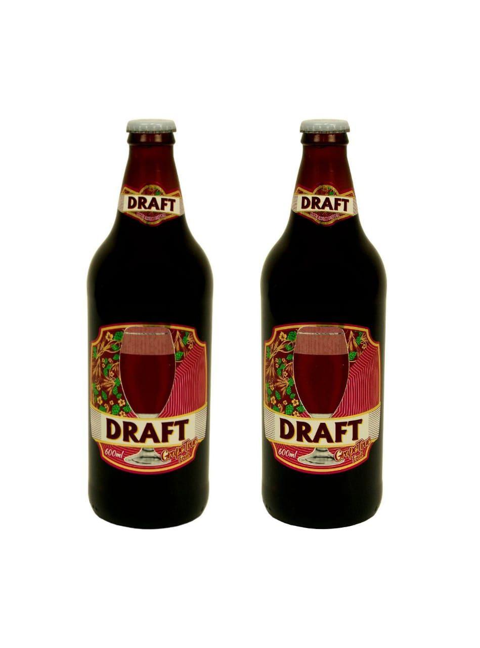 Cerveja Draft Chopp de Vinho 600ml Duas unidades para presente