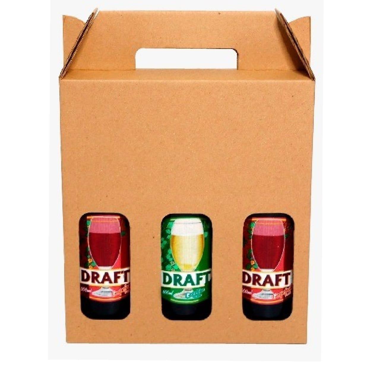Cerveja Draft 600ml para presente 3 unid . Faça a tua escolha!