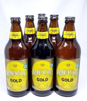 Pack com 6 Cervejas Ravache Gold Pilsen 600 ml