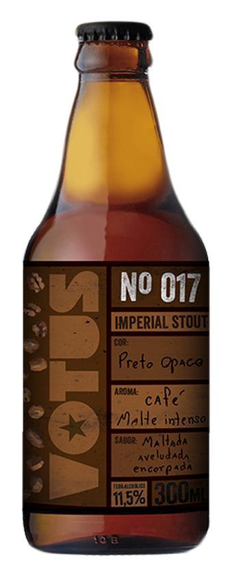 Cerveja Votus Imperial Stout n. 17 300ml