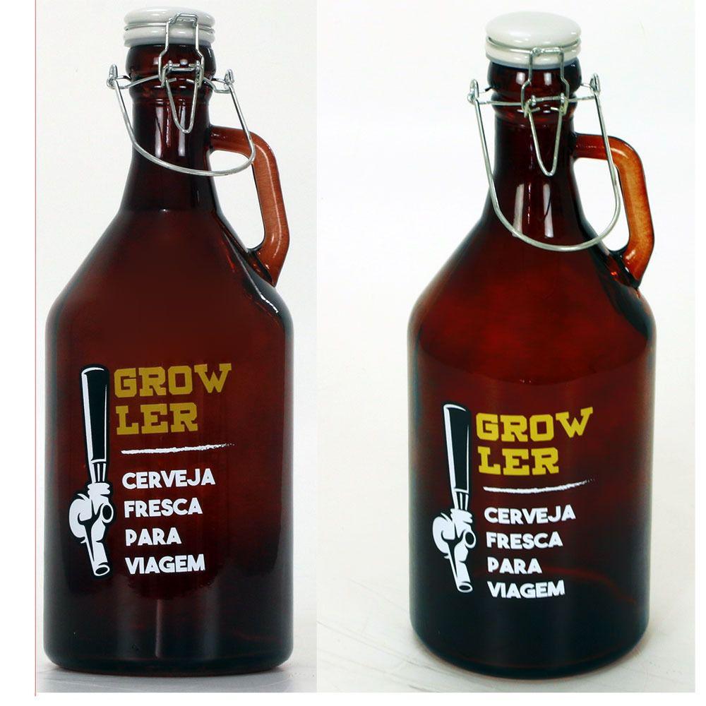 DOIS - Growlers (garrafão) Para  Chopes 1,92 Lt