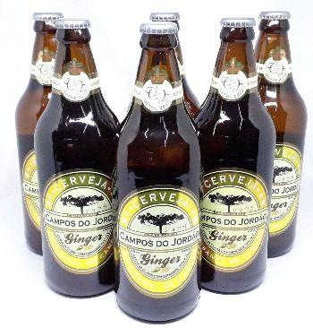 Pack com 6 Cervejas Campos do Jordão Ginger - 600 ml
