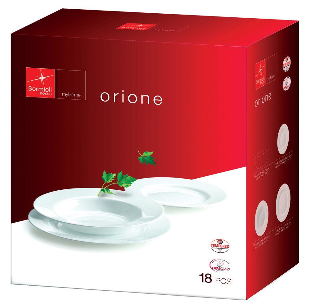Aparelho de jantar 18 Pçs Temperado Bormioli Rocco Orione