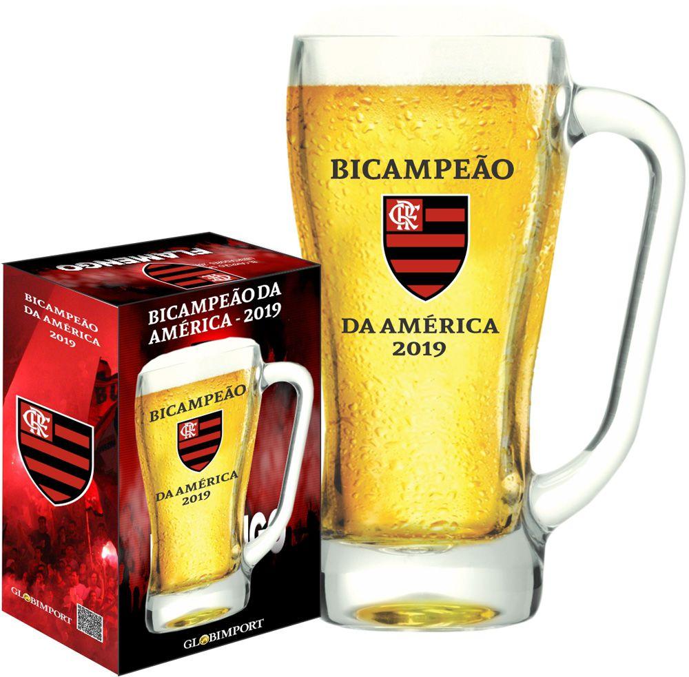 Caneca de chopp Flamengo Bicampeão da Libertadores 500ml