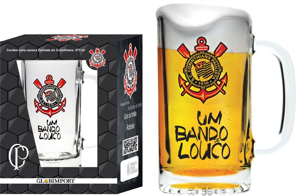 Caneca Estriada Corinthians Bando - 473 ml