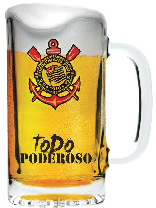 Caneca Estriada Corinthians Poderoso - 473 ml