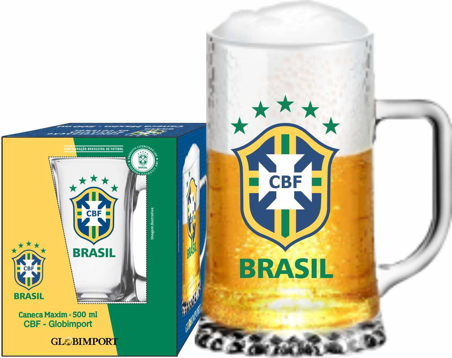 Caneca Maxim CBF Brasão - 500 ml