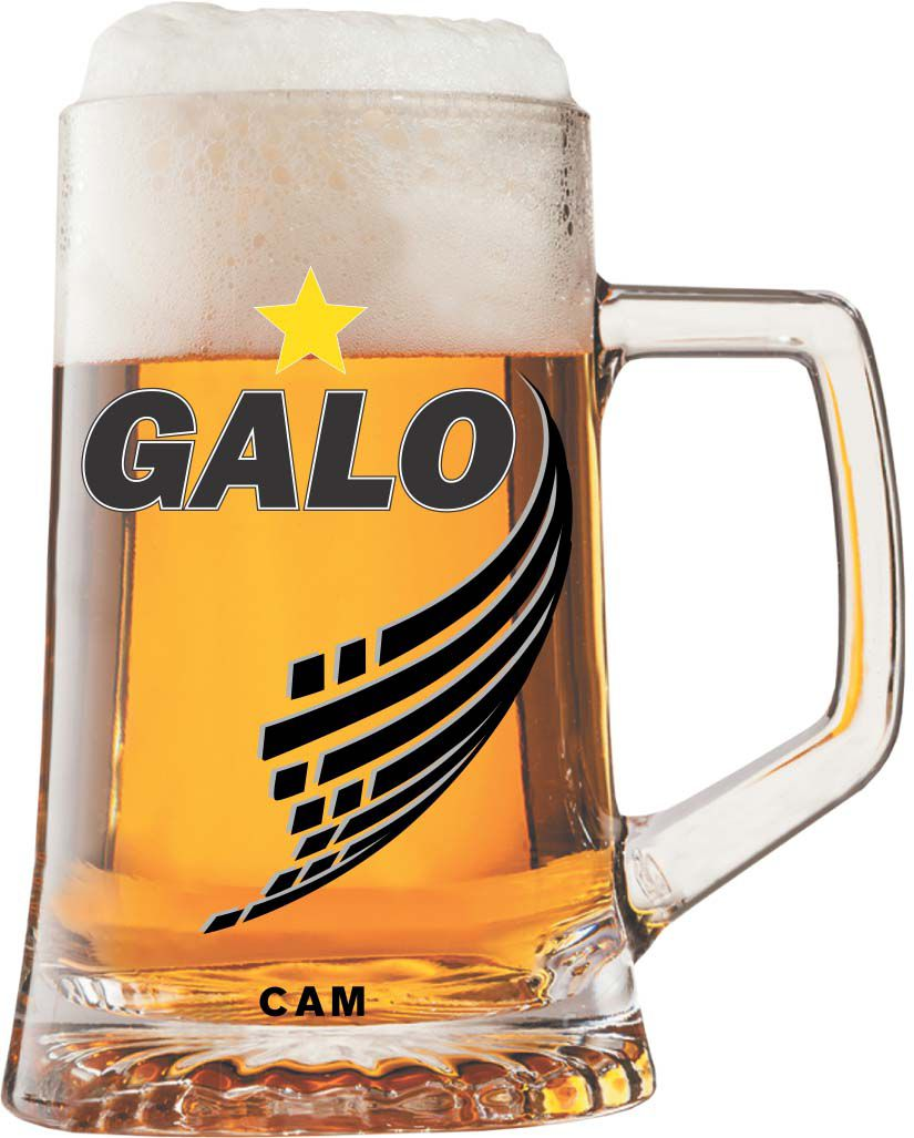 Caneca Maxim Atlético Galo Decorada - 500 ml