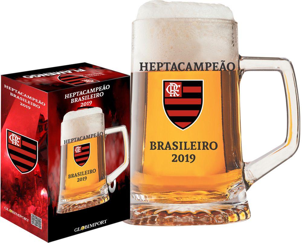Caneca Personalizado do Flamengo Campeão Brasileiro 500ml