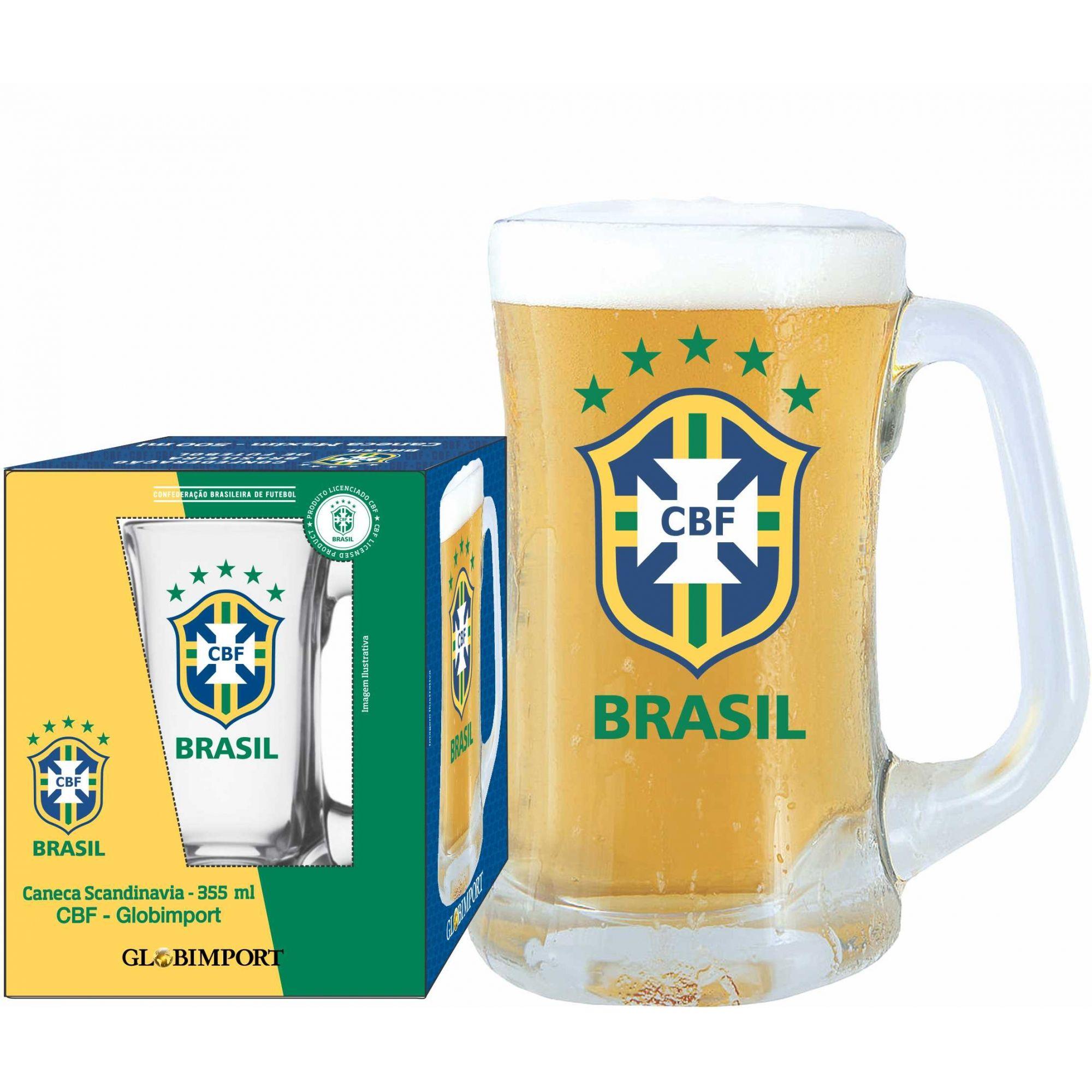 Caneca Scandinavia CBF Brasão - 355 ml