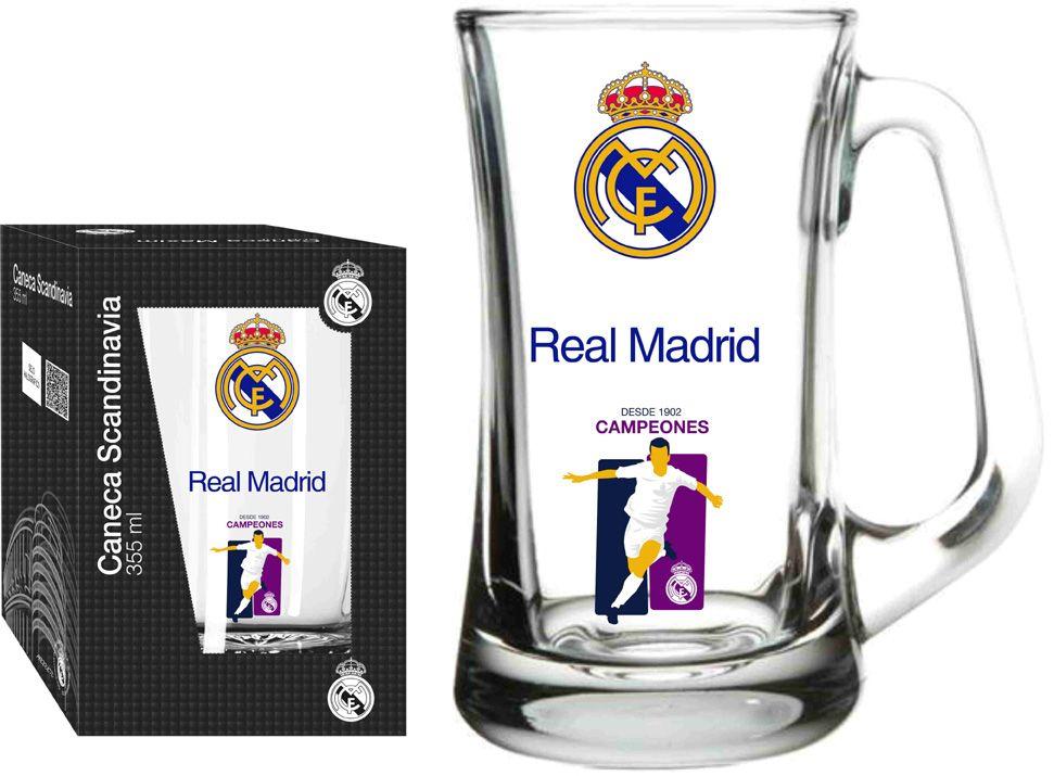 Caneca Scandinavia Real Madrid Jogador  - 355 ml