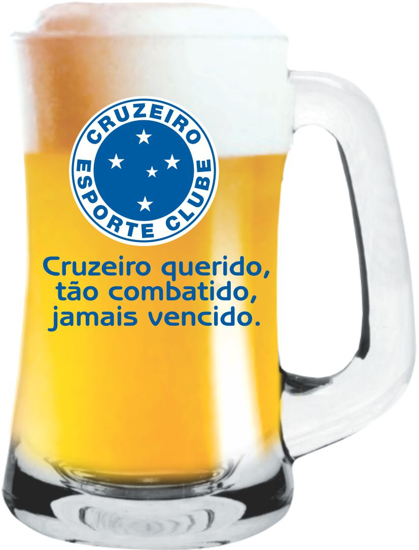 Caneca Scandinavia Cruzeiro- Torcida -355 ml