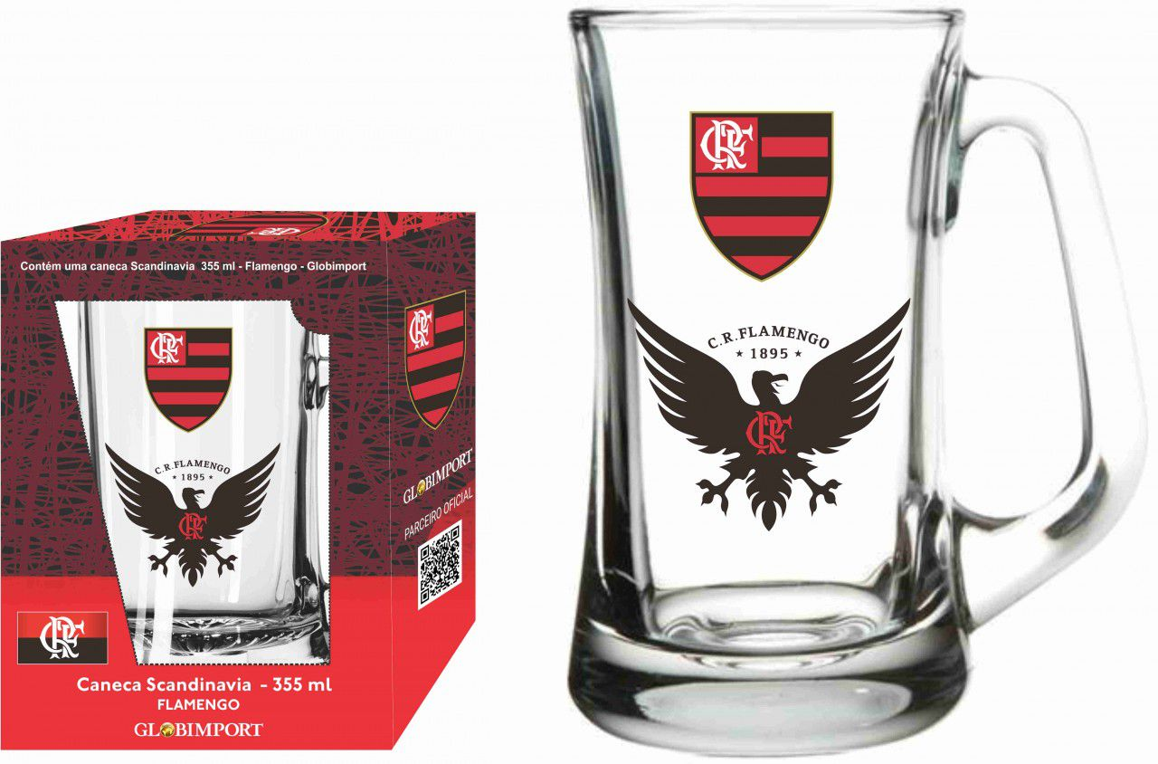 Caneca Scandinavia Flamengo Urubu - 355 ml