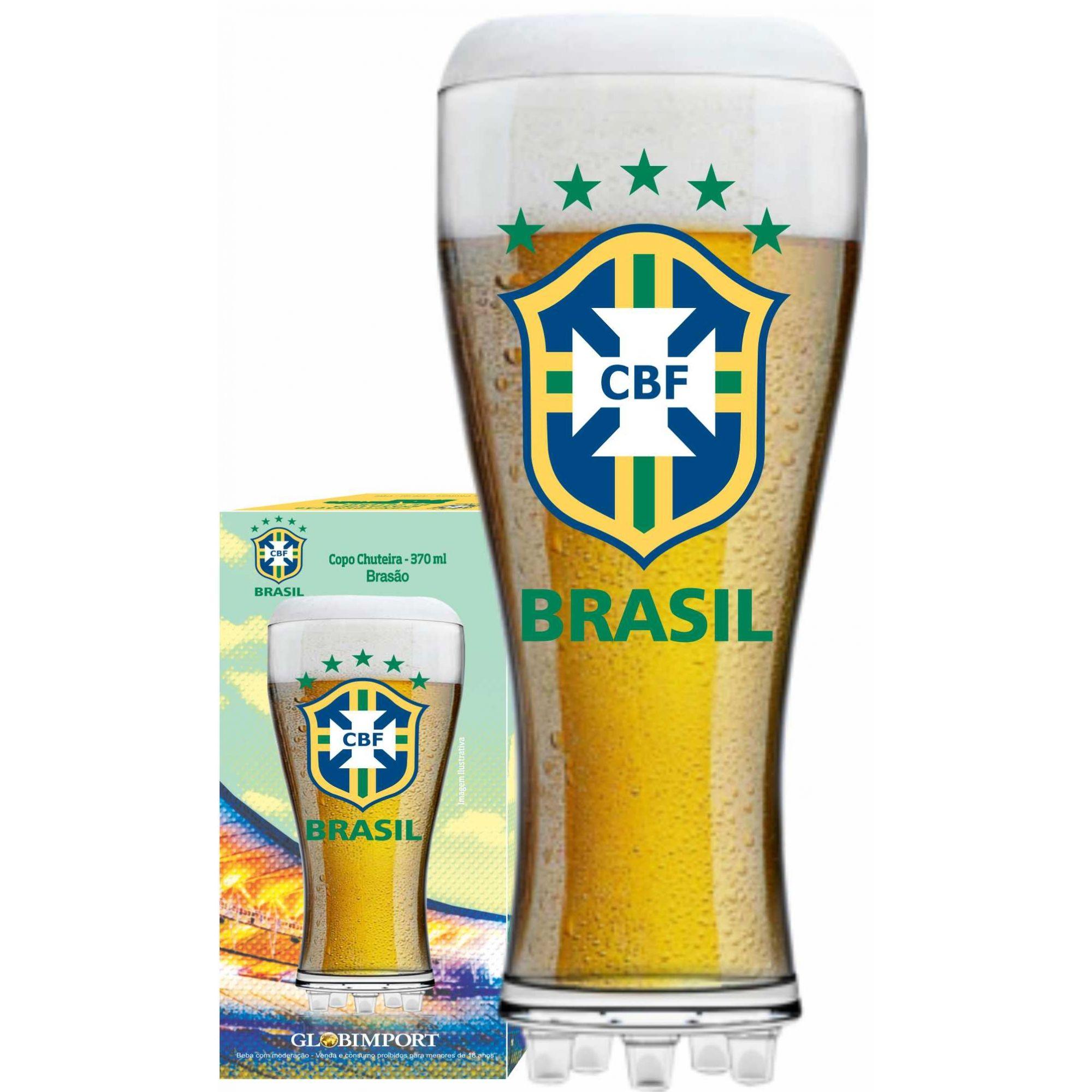 Copo Chuteira  CBF Brasão - 370 ml