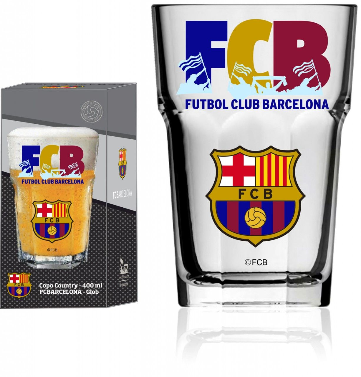 Copo Country Barcelona FCB - 400ml