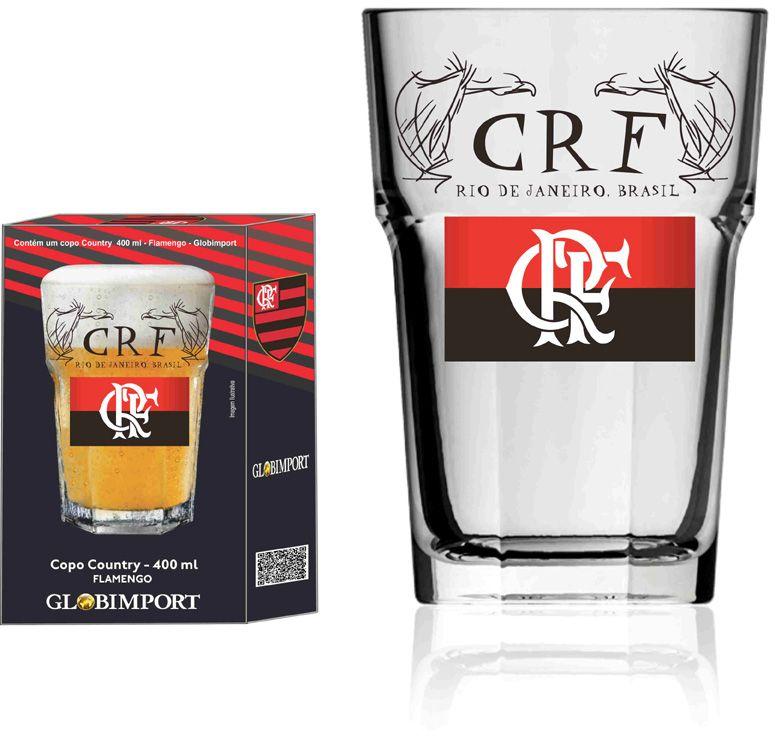 Copo Country Flamengo CRF - 400 ml