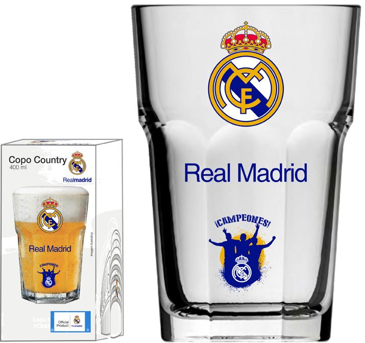 Copo Country Real Madrid Torcida - 400 ml