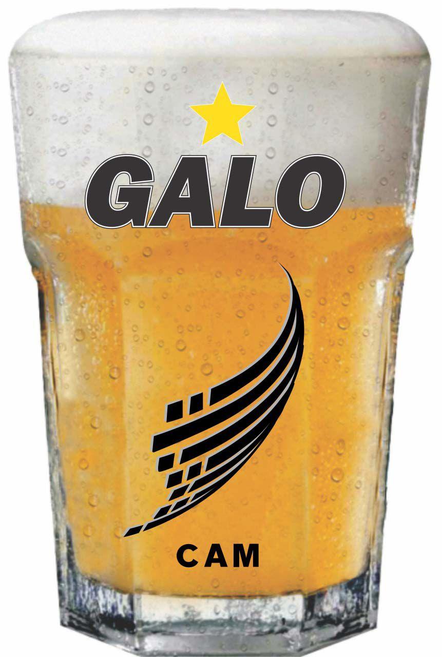 Copo Country Atlético Galo Decorado - 400 ml