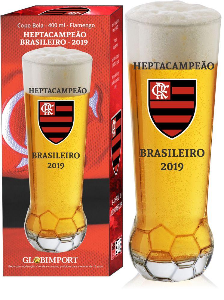 Copo Personalizado do Flamengo Campeão Vidro 400ml