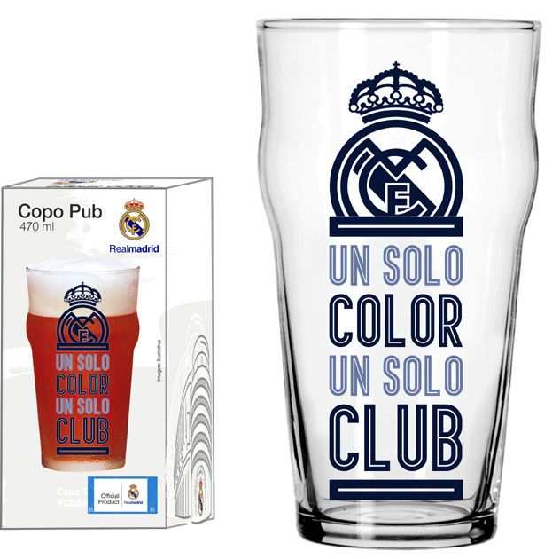 Copo Pub Real Madrid Clube - 470 ml
