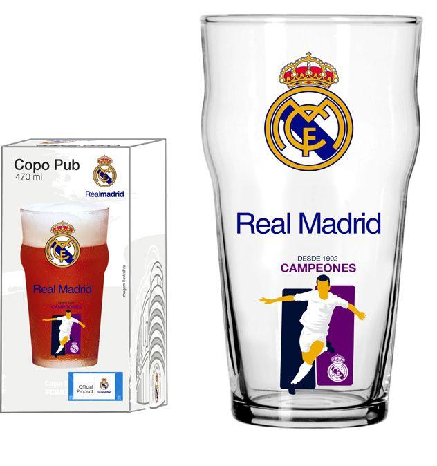 Copo Pub Real Madrid Jogador - 470ml