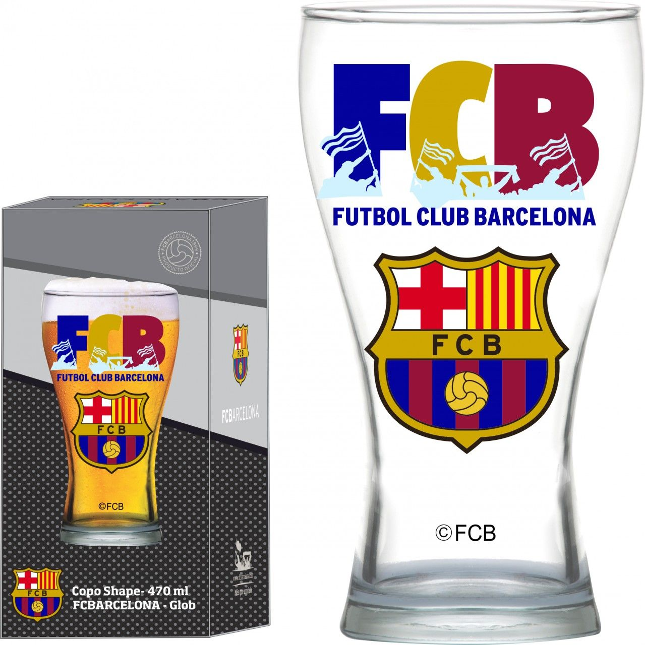 Copo Shape Barcelona FCB - 470ml