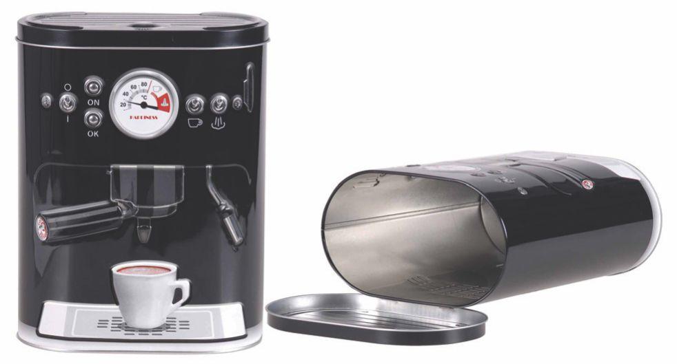 Lata 3 D Maquina de  Cafe Preta Grande