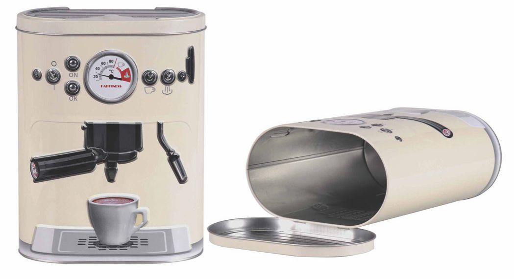 Lata 3D Maquina de Café Vermelho Grande