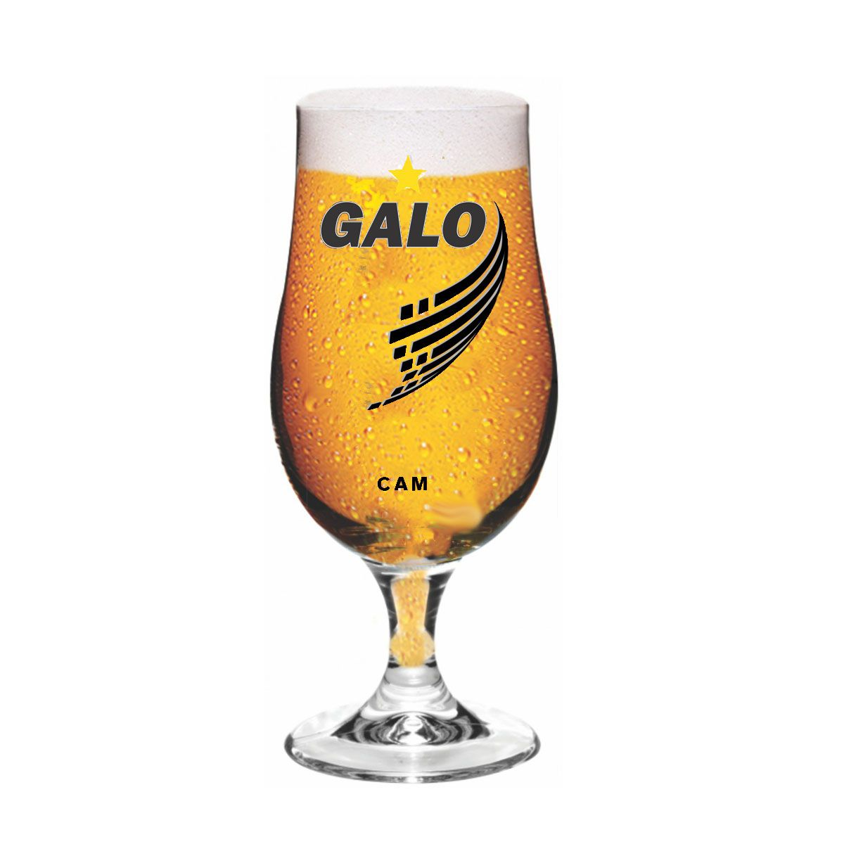 Taça Munique Atlético Galo decorada - 380 ml