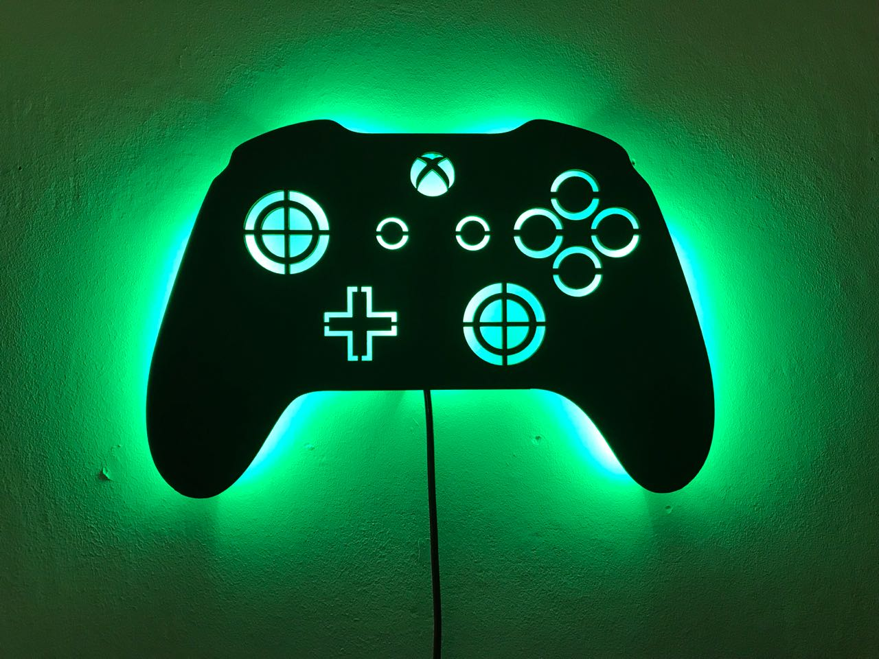 Xbox Controle Em Mdf Luminoso Com Luz De Led Madeiramadeira
